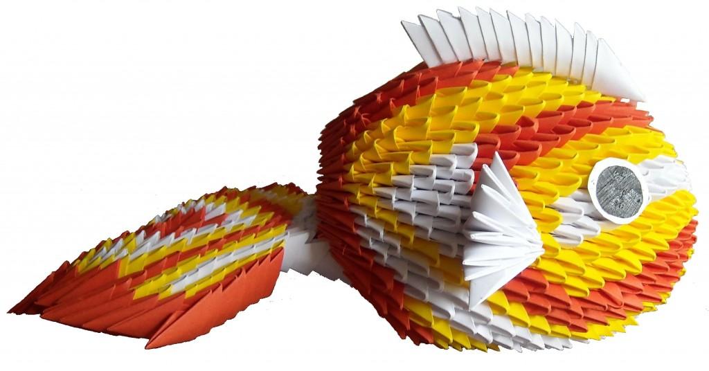Origami modulaire carpe koï